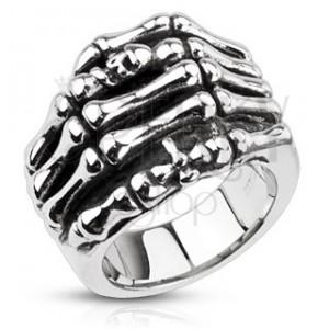 Prsteň z ocele - kostra ruky