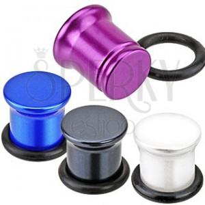 Metalický plug do ucha z akrylu - perleťové farby