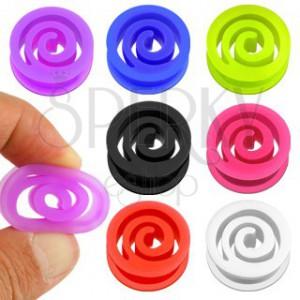 Plug do ucha špirála z flexibilného materiálu, rôzne farby