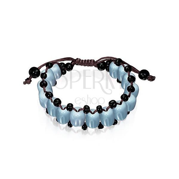 360cd133e Energetický náramok - SHAMBALLA so sivými korálkami | Šperky Eshop