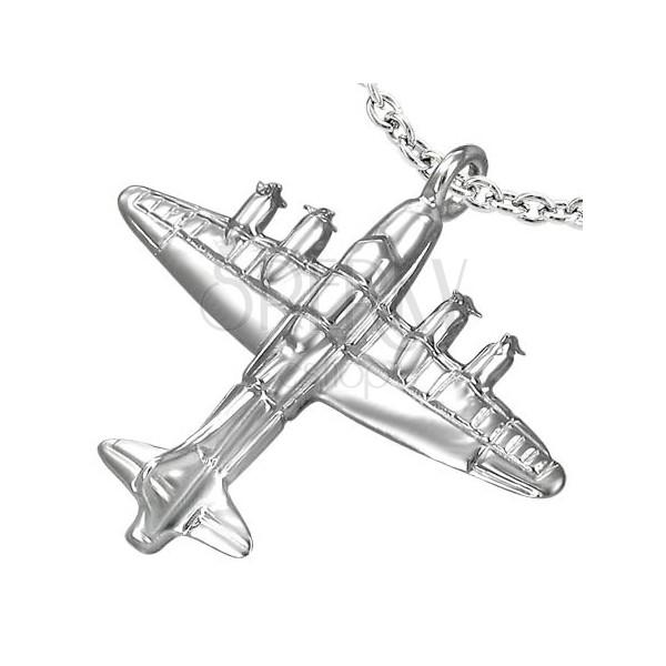 Prívesok 3D lietadlo z chirurgickej ocele  b2c615bb0f2
