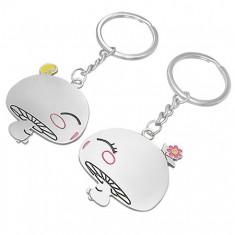 Šperky eshop - Prívesky na kľúče pre dvojicu - zaľúbené hubky AB31.04