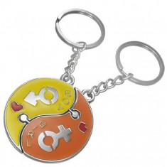 Šperky eshop - Kľúčenka pre pár - skladačka Jin Jang AB31.06