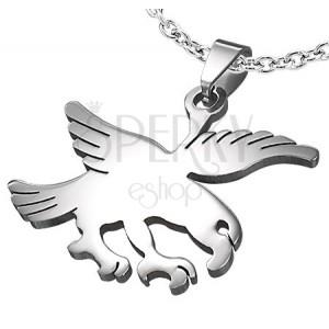 aa1bd36df Oceľový prívesok - mohutný letiaci orol | Šperky Eshop