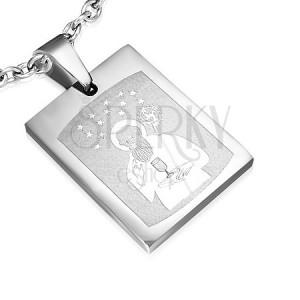 Prívesok z ocele s obrázkom Svätého a magnetmi