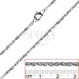 Retiazka z ocele - točené, husto spojené oválne očká