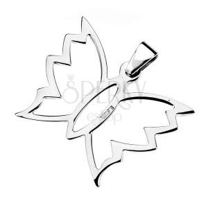 Oceľový prívesok - cik cak motýlik
