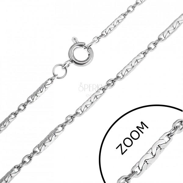 Oceľová retiazka - tesne spojené paličky a krúžky  8db275685eb