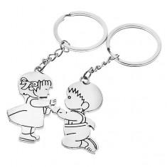 Šperky eshop - Zamilované kľúčenky - dievčatko a chlapček Y23.3