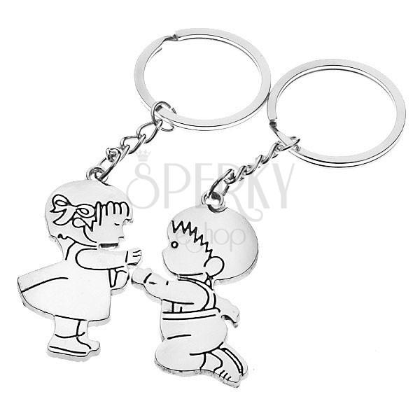 Zamilované kľúčenky - dievčatko a chlapček  563566ca881