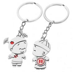 Šperky eshop - Kľúčenky pre pár - chlapec a dievča, čínske ornamenty Y23.9