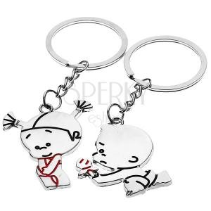 Kľúčenka pre pár so zamilovanou dvojicou