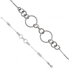 Šperky eshop - Strieborná retiazka 925 na ruku - pospájané krúžky Y51.9