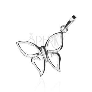 Prívesok zo striebra 925 - motýlik so špicatými krídlami