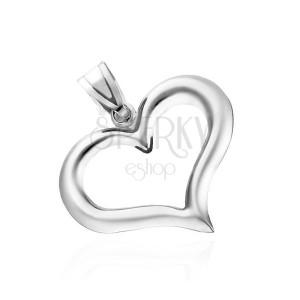 Strieborný prívesok 925 - nepravidelná silueta srdca
