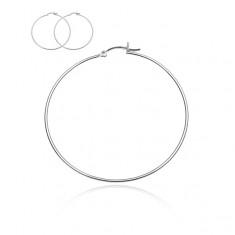 Šperky eshop - Náušnice kruhy zo striebra 925 - jednoduché kruhy, háčik, 50 mm O13.6