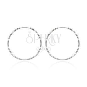 Okrúhle náušnice zo striebra 925 - lesklý a hladký povrch, 15 mm