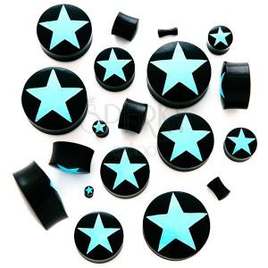 Sedlový plug - čierny organický materiál, hviezda