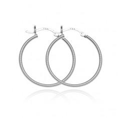 Šperky eshop - Náušnice zo striebra 925 - kruhy s hustými vrúbkami, 25 mm A22.13