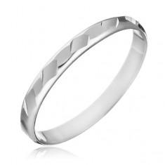 Šperky eshop - Prsteň zo striebra 925 - lesklé zbrúsené tvary H10.11 - Veľkosť: 55 mm
