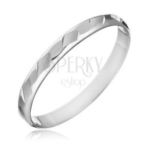 Prsteň zo striebra 925 - lesklé zbrúsené tvary