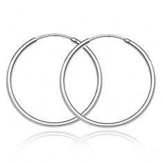 Šperky eshop - Strieborné náušnice kruhy 925 - jednoduchý lesklý dizajn, 30 mm A18.8