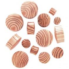 Šperky eshop - Plug do ucha zo zebrového dreva, sedlový C33.5/9 - Hrúbka: 24,5 mm