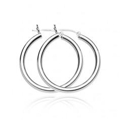 Šperky eshop - Strieborné náušnice 925 - hrubé jednoduché kruhy, 40 mm A17.8