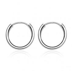 Šperky eshop - Náušnice zo striebra 925 - lesklé jednoduché kruhy, 20 mm A3.8