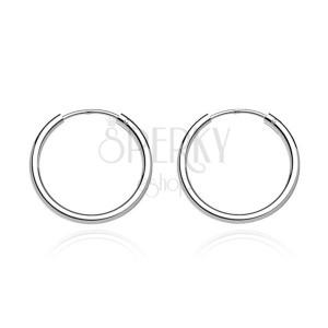 Okrúhle náušnice zo striebra 925 - hrubšie lesklé kruhy, 12 mm