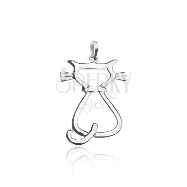 3850401d7 Prívesok zo striebra 925 - sediaca mačka | Šperky Eshop