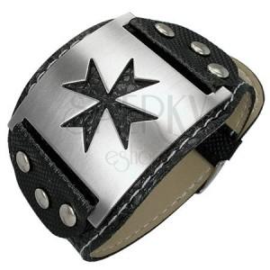 Náramok z imitácie hadej kože Keltský kríž