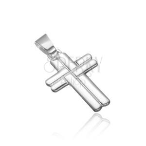 Strieborný prívesok 925 - prepletaný zaoblený kríž