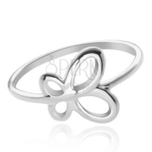 Strieborný prsteň 925 - krídla motýľa