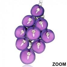 Náušnice fimo - strapec fialových Antúrií so zirkónom