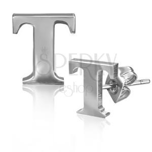 Puzetky z ocele - lesklý tvar písmenka T