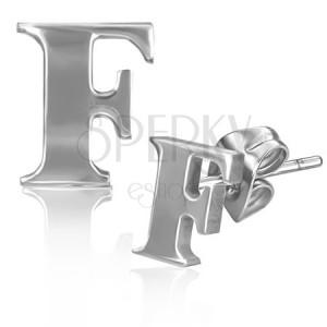 Oceľové puzetky - tlačený tvar písmena F