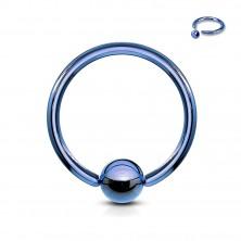 Piercing krúžok s guličkou z anodizovaného titánu